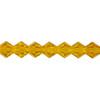 Yellow Gold 3mm Thunder Polish Bicone Crystals
