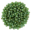 2mm Turquoise Picasso Fire Polished Round Beads