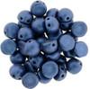 Czechmates Two Hole Cabochon Metallic Suede Blue (20 Pieces)