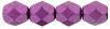 6mm Saturated Metallic Pink Yarrow Fire Polish Beads (25 Beads)