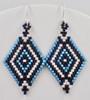 Double Diamond Earrings PRINTED Pattern