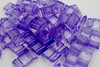 25pk Transparent Purple Carrier Beads (17x9x5mm) Two Hole