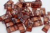 25pk Transparent Brown Carrier Beads (17x9x5mm) Two Hole