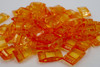 25pk Transparent Orange Carrier Beads (17x9x5mm) Two Hole