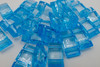 25pk Aqua Blue Carrier Beads