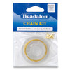 Chain Kit, 0.9 mm (.035 in) Round Cable, Gold Color, 2 m (6.56 ft)