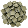 6mm 2-Hole Metallic Suede Gold Tile Beads - 50pk