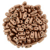 2x6mm Matte Metallic Copper Czechmate Bar - 8 Grams (Approx 120-140 Beads)