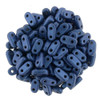 2x6mm Metallic Suede Blue Czechmate Bar - 8 Grams (Approx 120-140 Beads)