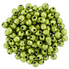 2mm Metallic Lime Punch Fire Polish Bead - 50pk