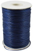 Korean Waxed Polyester Cord, Bead Cord, Dark Blue, 1.5mm(Sold Per Yard)