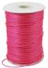 .5mm Deep Pink Waxed Polyester Cord - 10yds