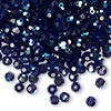 4mm Deep Tanzanite AB Preciosa Round Crystals (12pk)