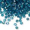 4mm Indicolite AB Preciosa Round Crystals (12pk)