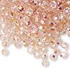 4mm Light Rose AB Preciosa Round Crystals (12pk)