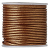 1.5mm Metallic Copper Leather Cord (Sold Per Yard)