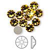 6pk SS34 Sunflower Flat Back Crystal (2088)