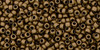 15/0 Frosted Bronze Toho Seed Beads (15-221F) 8 Grams