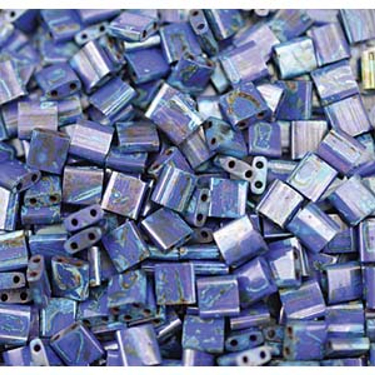 Cobalt Picasso Tila Beads (8 Grams) TL4518