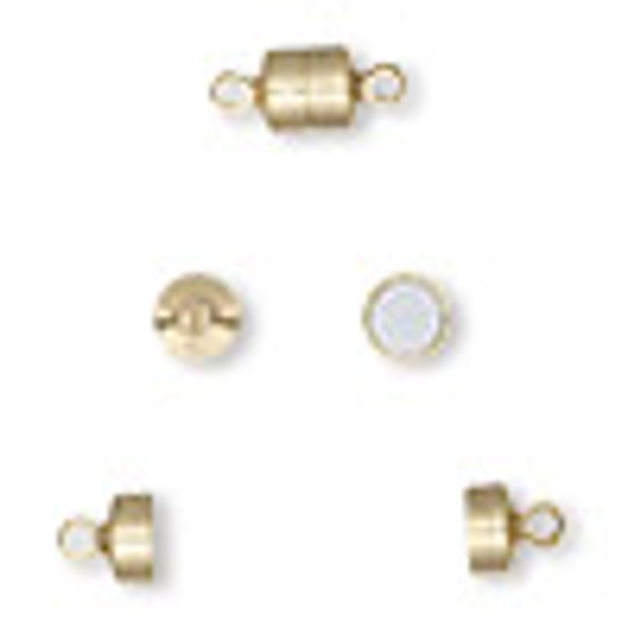 7x6mm Barrel Magnetic Gold Plated Clasp 2pk