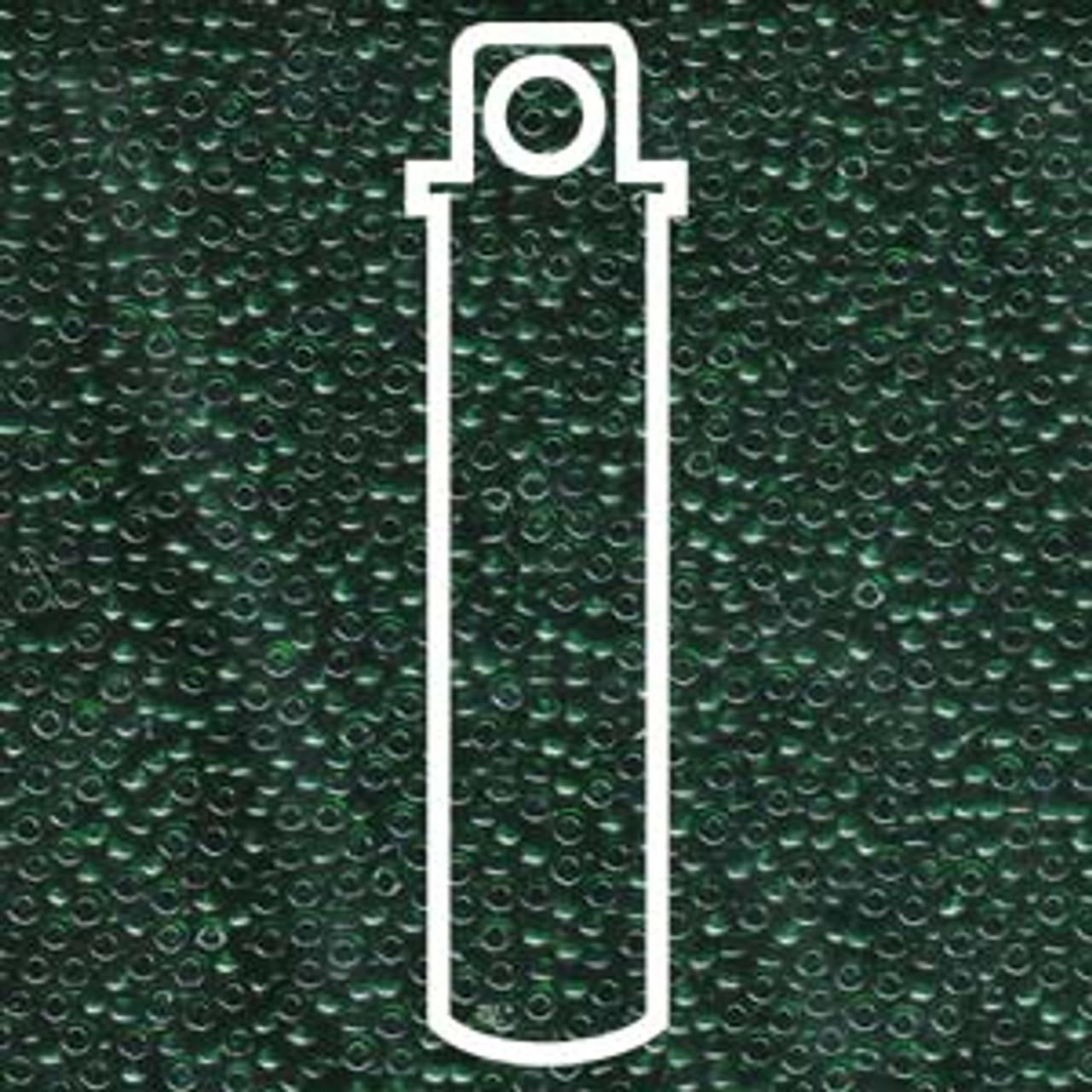 11/0 Transparent Emerald Miyuki Seed Beads (22 Grams) 11-9156