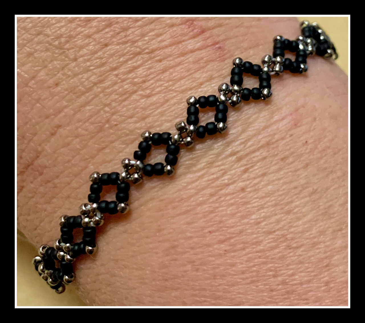 RAW Diamond Bracelet PRINTED PATTERN - Mailed to your home