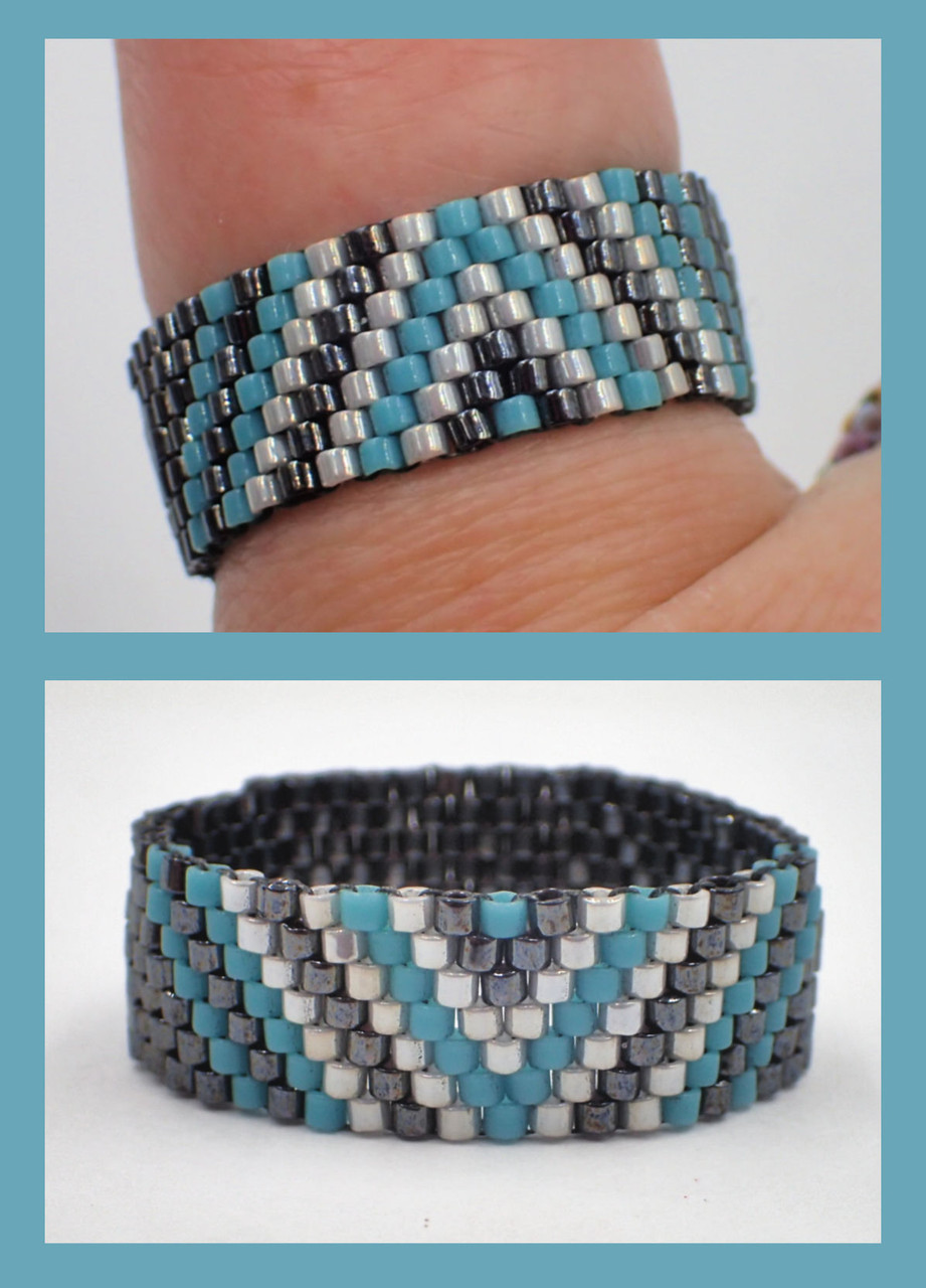 Color Block Odd Count Ring PRINTED PATTERN - Mailed to your home
