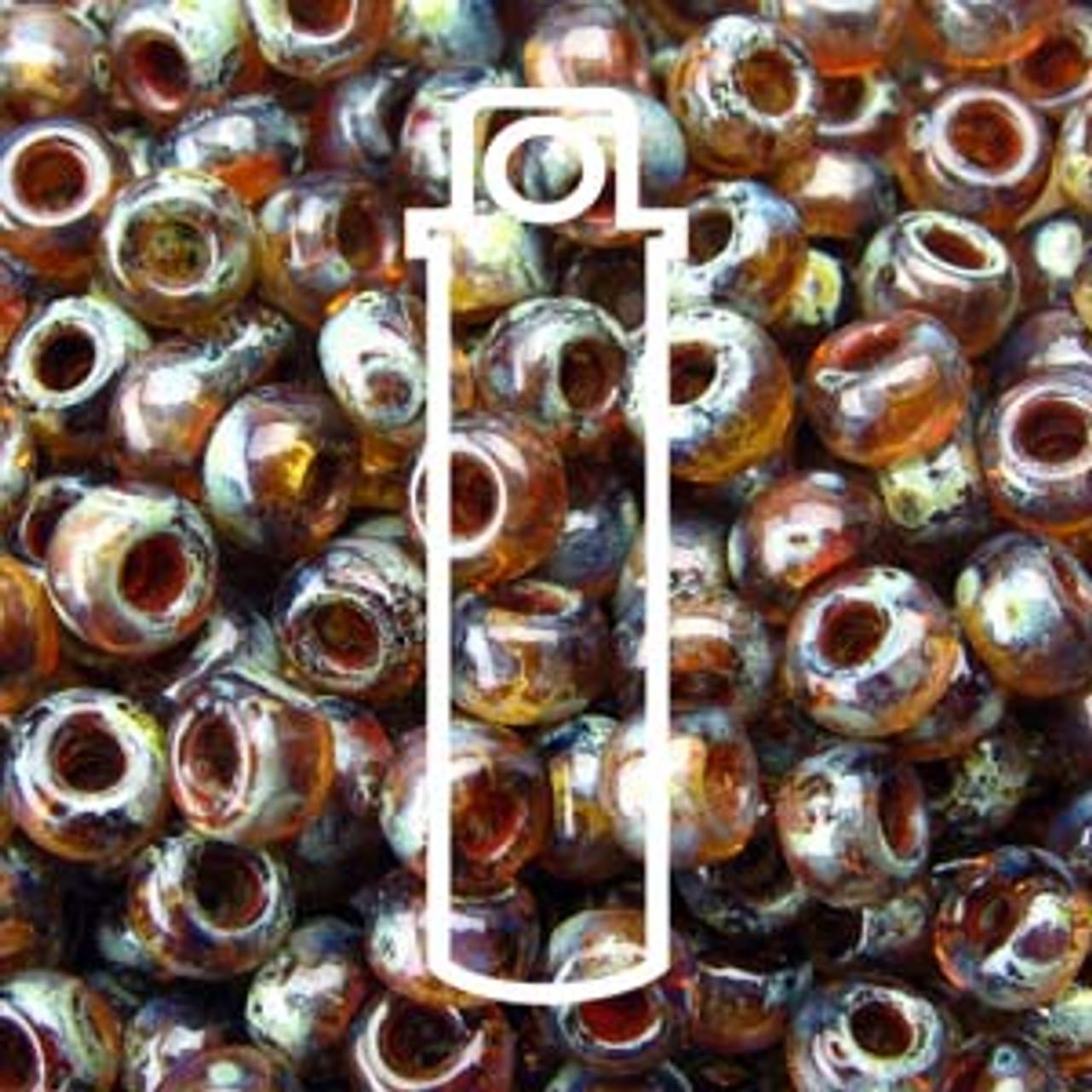 11/0 Smokey Topaz Picasso Miyuki Seed Beads (22 Grams) 11-94505