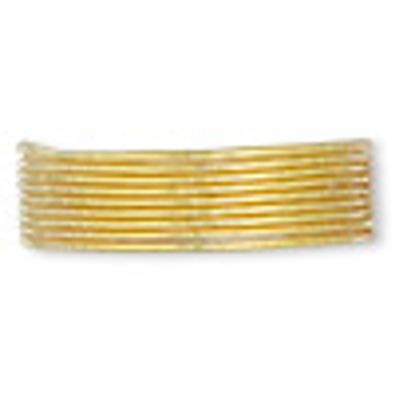 French wire, gold-plated copper, light, 0.85mm. Sold per 27- to 30-inch strand.