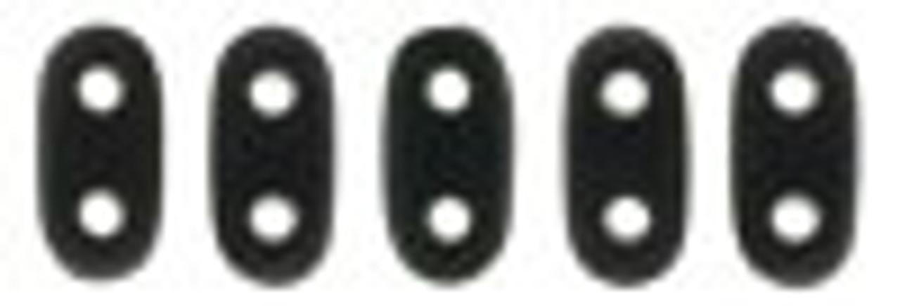 2x6mm Matte Jet Czechmate Bar - 8 Grams (Approx 100-112 Beads)
