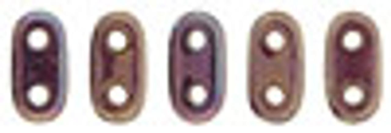 """2x6mm Oxidized Bronze Berry Czechmate Bar - 2.5"""" Retail Tube"""