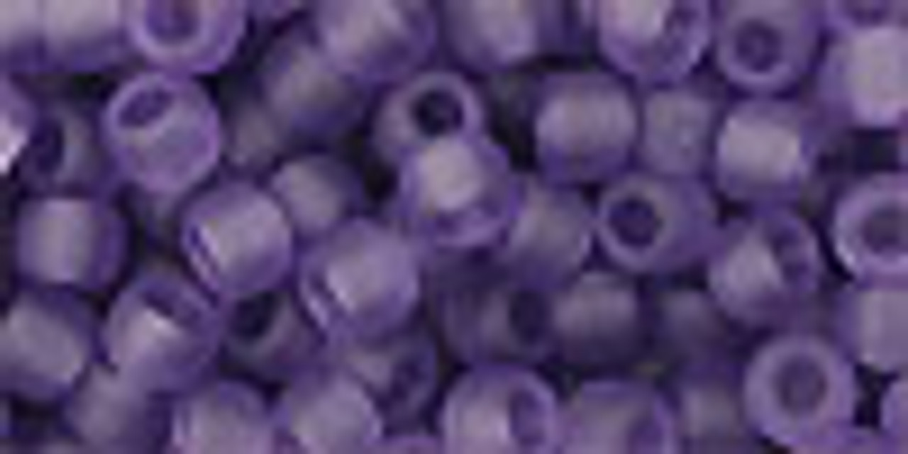 6/0 Transparent Frosted Sugar Plum Toho Seed Beads (20 Grams) 06-19F
