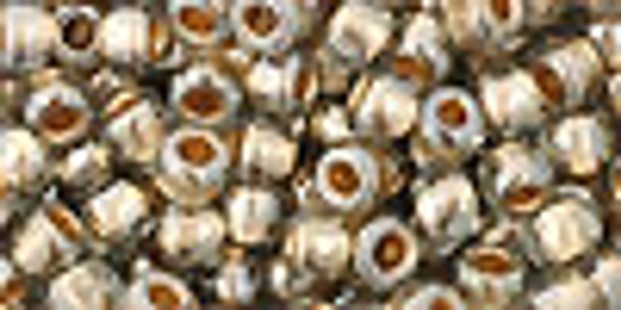 6/0 Gold Lined Black Diamond Toho Seed Beads (20 Grams) 06-993