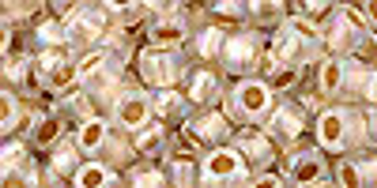 6/0 Gold Lined Rainbow Crystal Toho Seed Beads (20 Grams) 06-994
