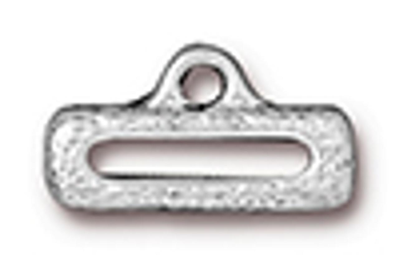 """1/2"""" Distressed Slide Link with Loop Silver (2pk) TierraCast"""