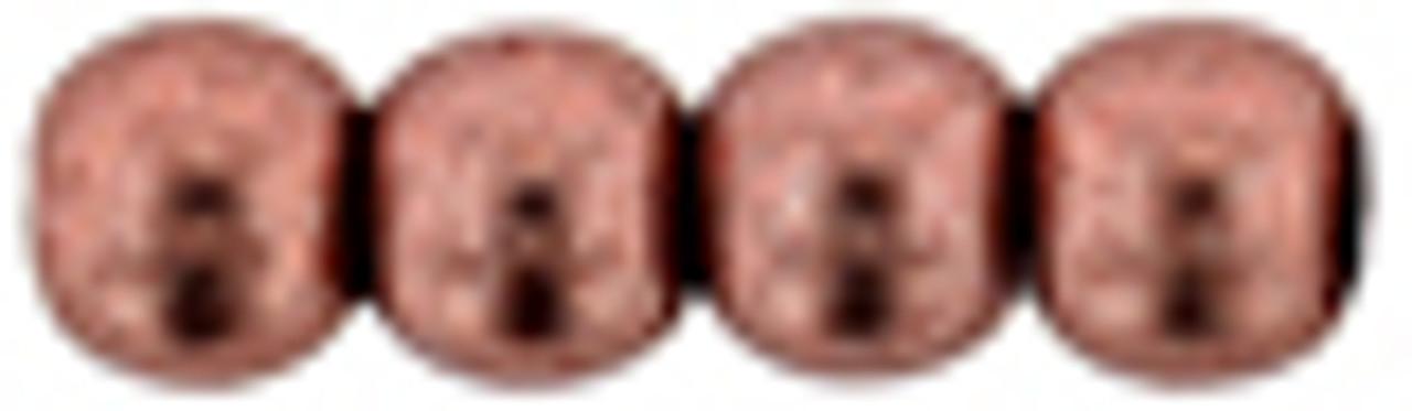 4mm Saturated Metallic Dahlia Czech Glass Rounds (Approx 100 Beads)