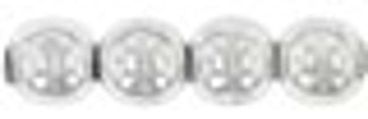 4mm Silver Czech Glass Rounds (Approx 100 Beads)