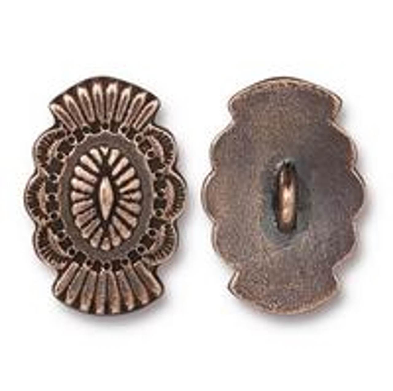 Antique Copper Plated Western Button (1 Piece)