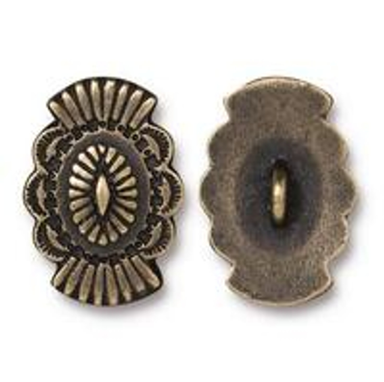Antique Gold Plated Western Button (1 Piece)