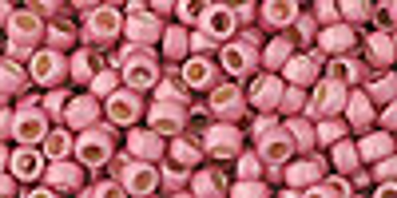 8/0 PermaFinish Matte Galvanized Pink Lilac Toho Seed Beads (20 Grams) 08-PF553F