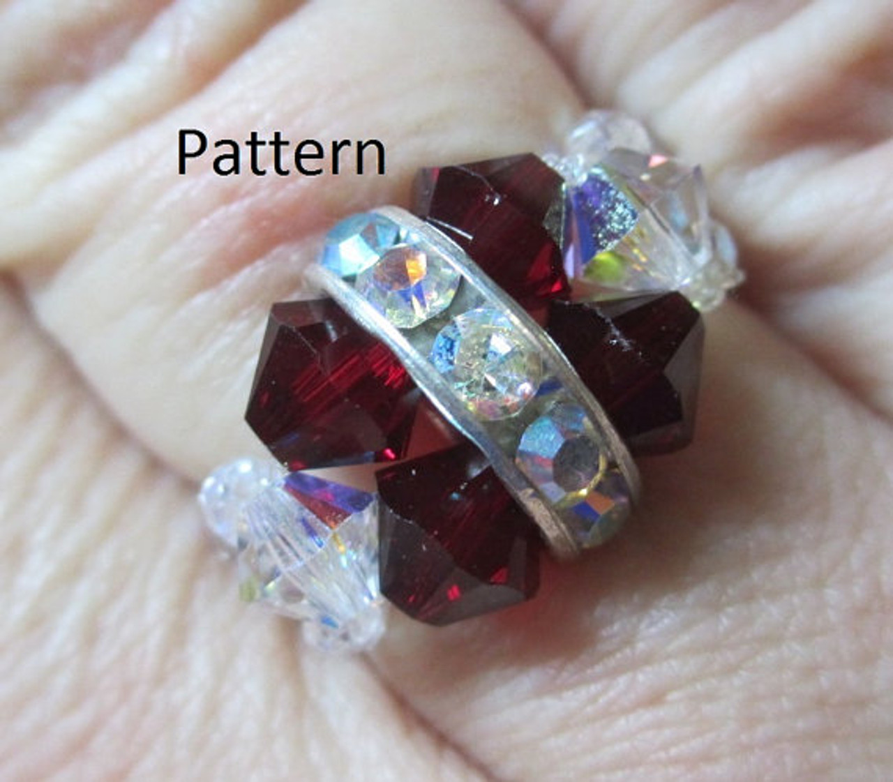Rockin Rhinestone Ring PRINTED Pattern - Mailed to your home