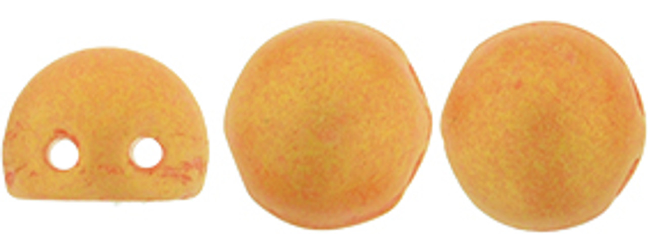 7mm Pacifica Tangerine 2HL Czechmate Cabochon (20pk) PS1004