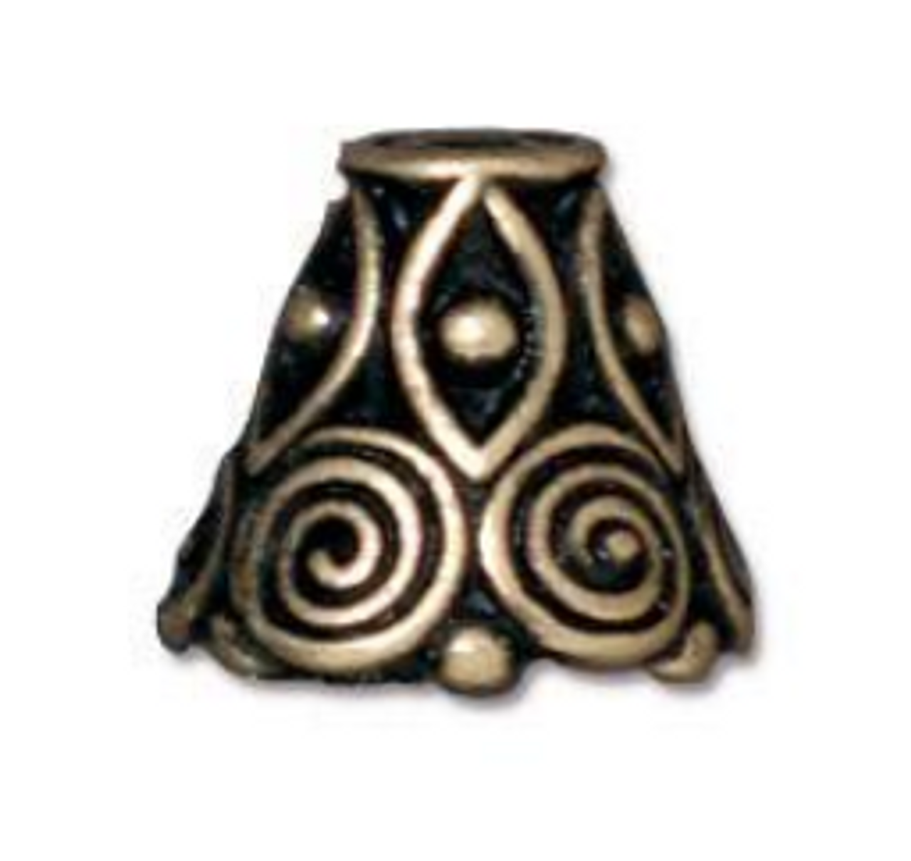 Antique Gold Spiral Bead Cone (2pk) TierraCast