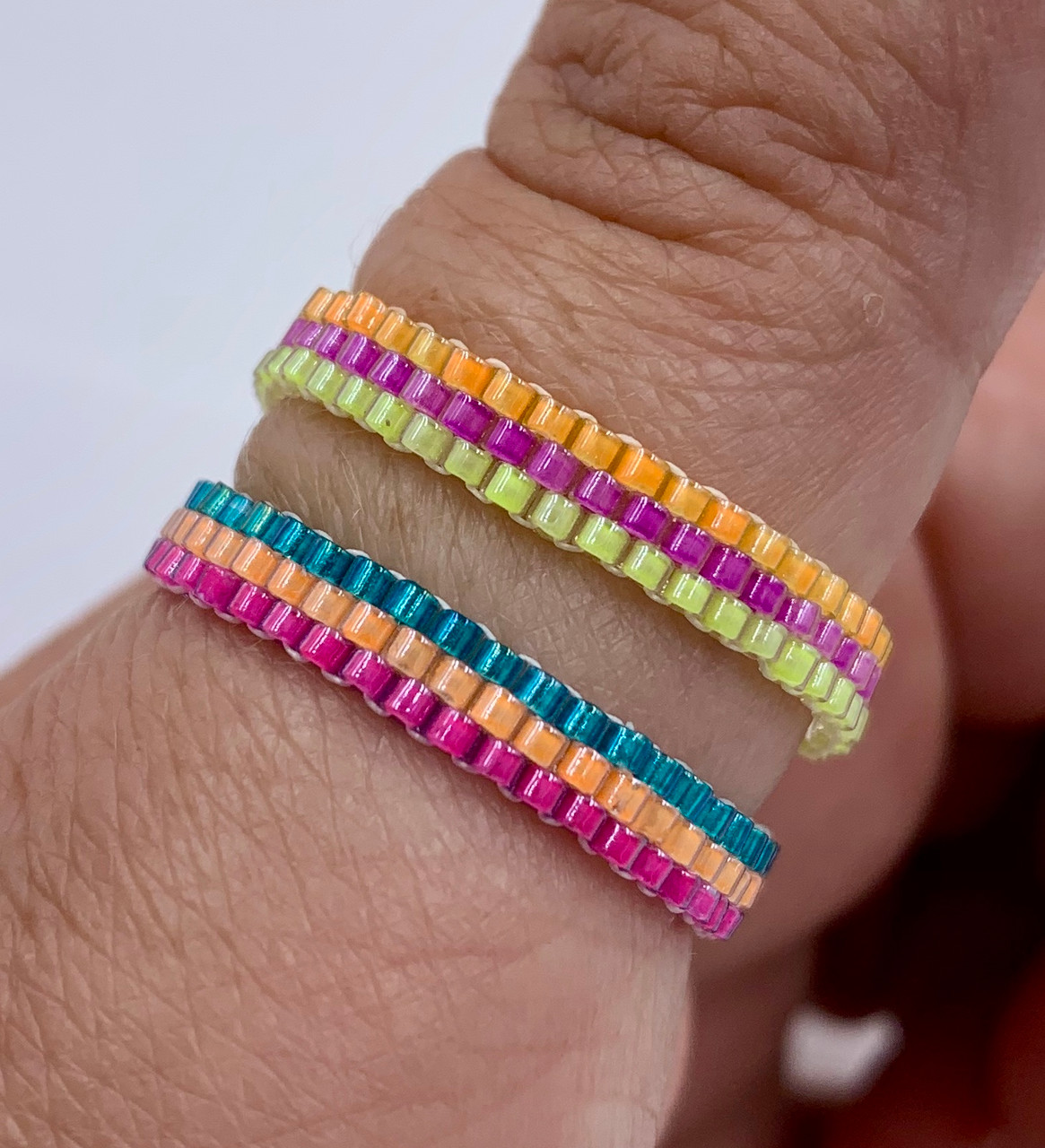 Rainbow Stacker Rings INSTANT DOWNLOAD PDF Pattern