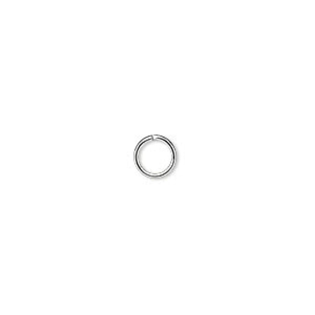 6mm 20 Gauge Silver Plated Jump Rings (100 Pack)