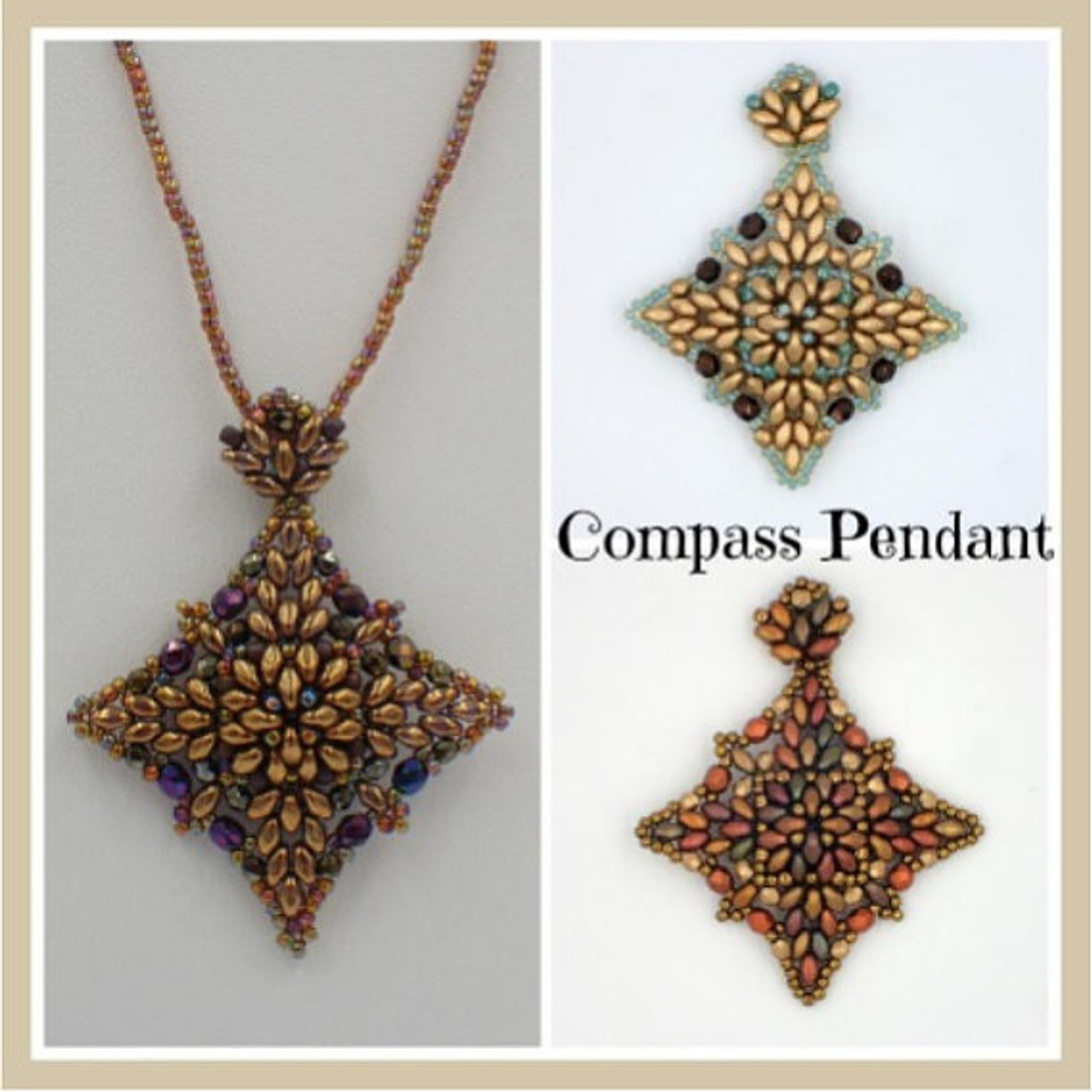Compass Pendant PRINTED Pattern - Mailed to your home
