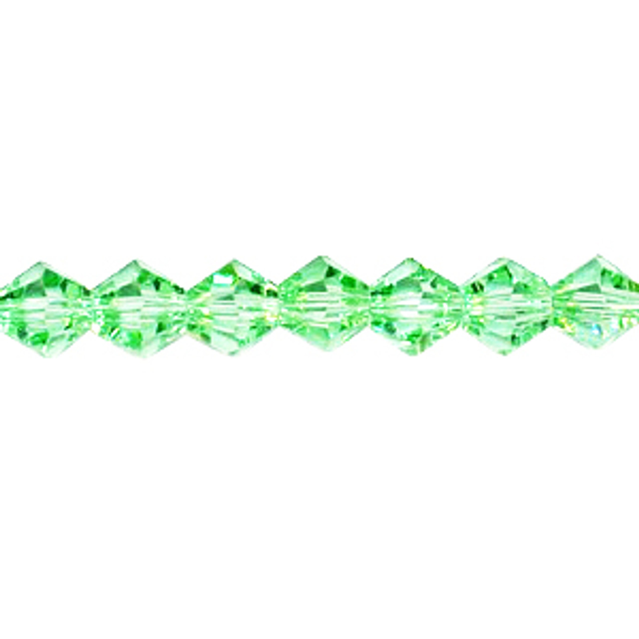 Chrysolite 3mm Thunder Polish Bicone Crystals