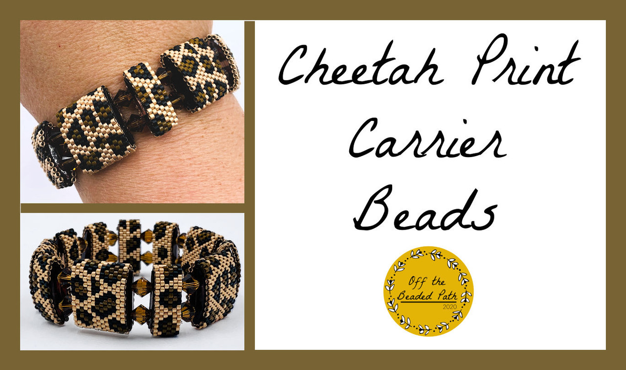 Cheetah Print Carrier Bead PRINTED Pattern - Mailed to your home