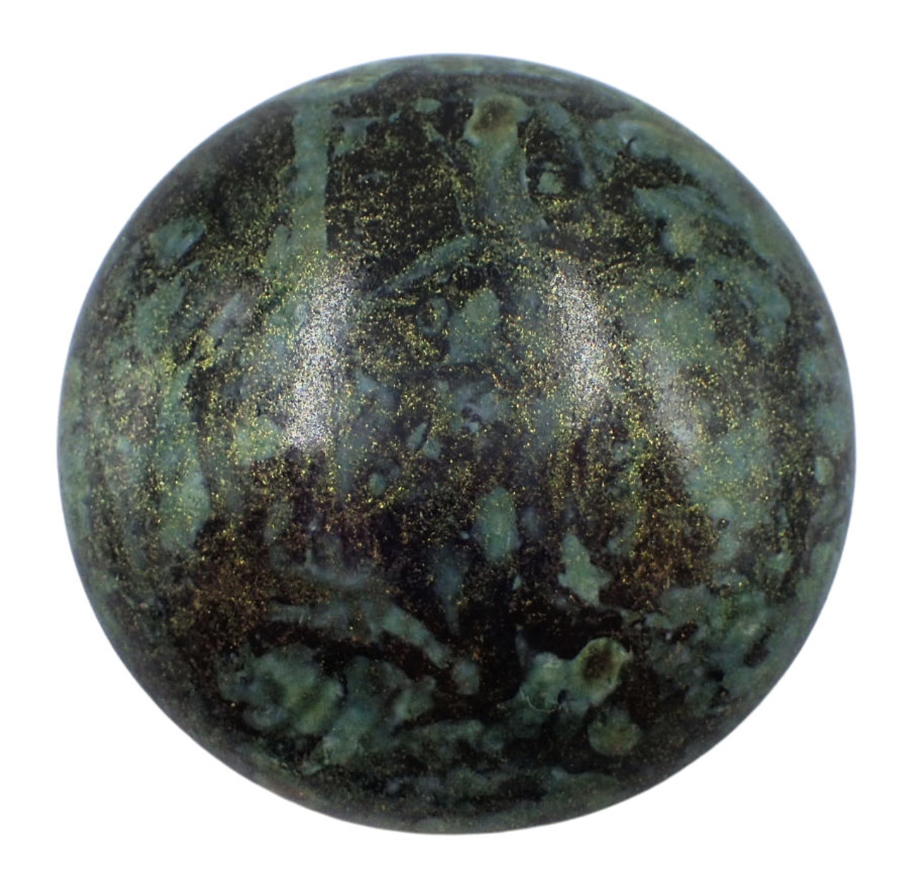 25mm Metallic Matte Green Spotted Par Puca Cabochon (1 Piece) #23980/65326