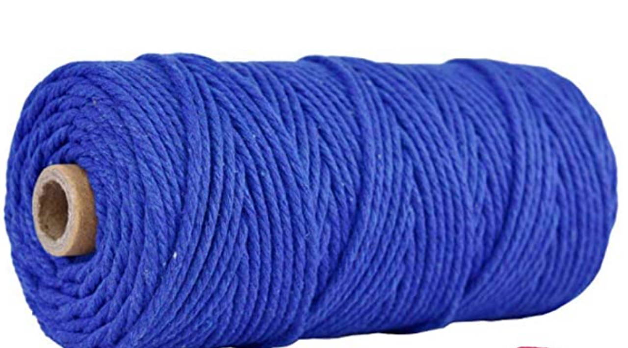 3mm Navy Blue 100% Natural Macrame Cord (Sold Per Yard)